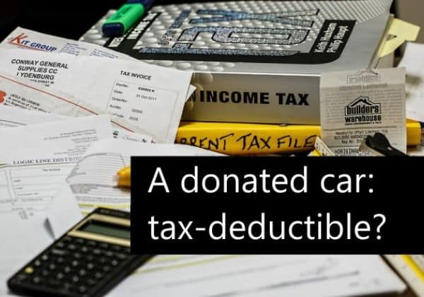 If I Donate a Car is it Tax Deductible?